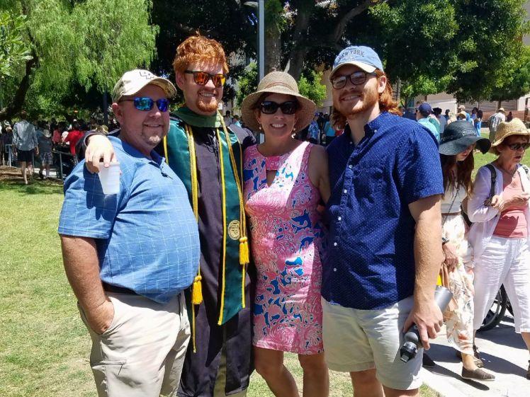 Jake graduation family photo